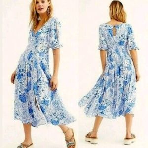 Free People Forever Always Midi Dress, small nwot